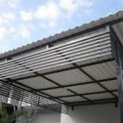 Pemasangan atap formax