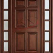 pintu panel kayu jati