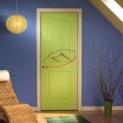 pintu solid panel kayu